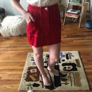 Wild Fable Red High Waisted Mini Skirt